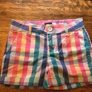 NWT Gap Girl's Plaid Shorts Size 6